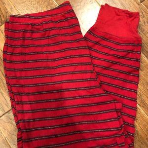 Cacique plus size striped pj pants 18/20